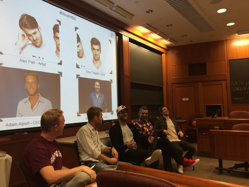 Sound Society hosted a panel featuring DJ/Producer duo The Chainsmokers on the HBS campus