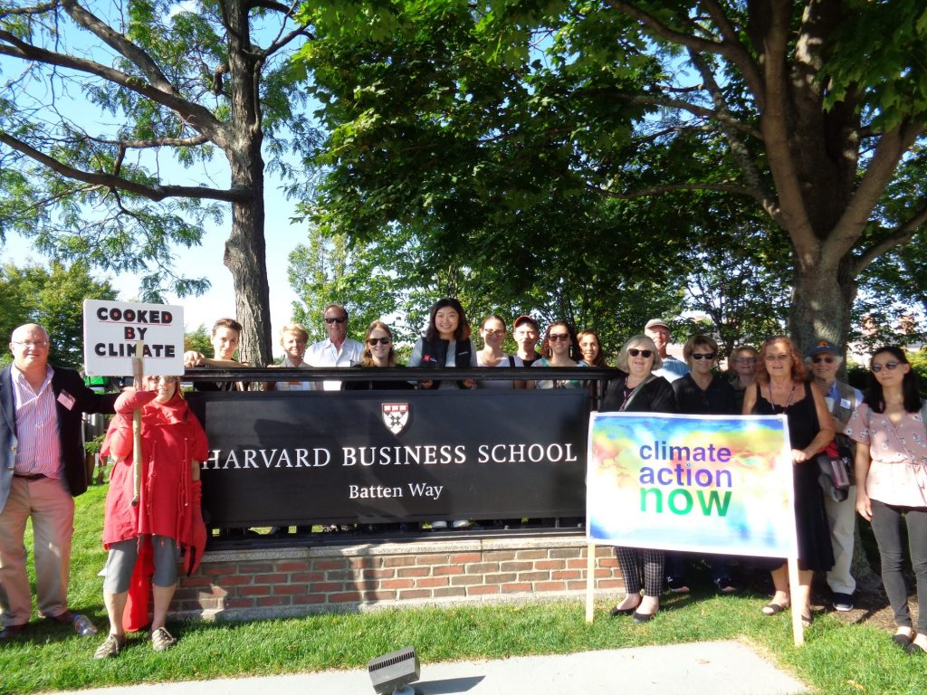 "HBS Alumni Leaders Organize 9/20 ""Global Climate Strike"" Rally at HBS"