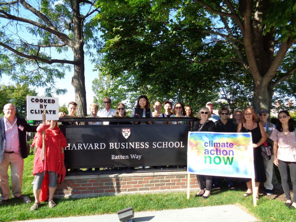 "HBS Alumni Leaders Organize 9/20 ""Global Climate Strike"" Rally at HBS"